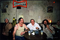 Photo of Charles Bukowski: Barflies on the set, Culver City, 1987